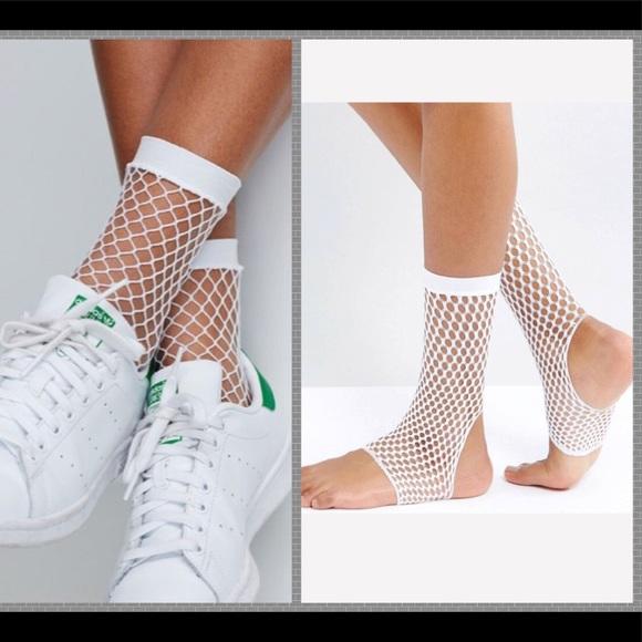 39b05aa1875cf ASOS Accessories | Nwt White Fishnet Stirrup Socks | Poshmark
